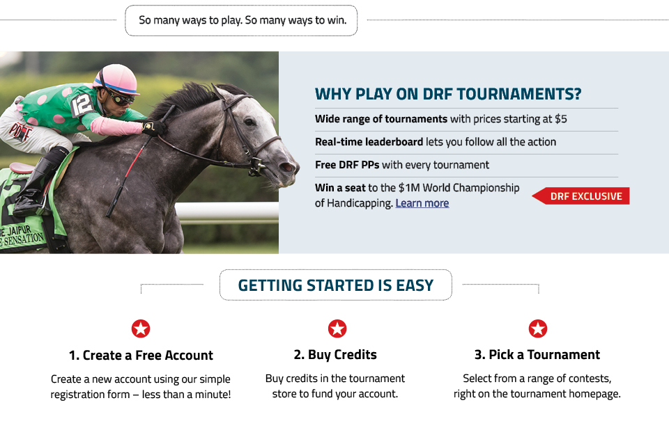 Tournaments Landing Page Daily Racing Form