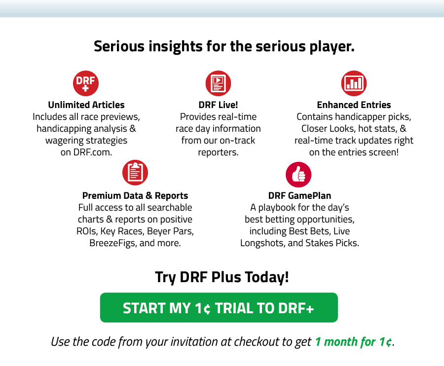 Referral Plus   Daily Racing Form