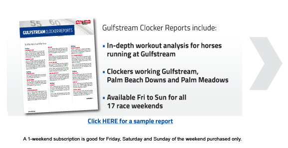 Mike Welsch S Gulfstream Clocker Reports Daily Racing Form